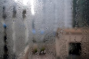 wet windows with condensation inside the home